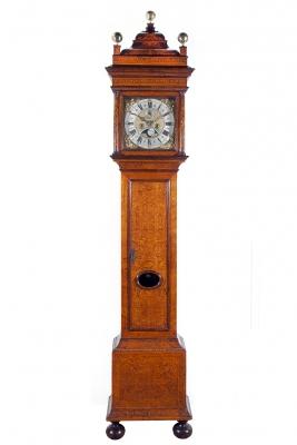 A fine early Dutch longcase clock, Adriaan d'Baghijn, Amsterdam ca 1710.