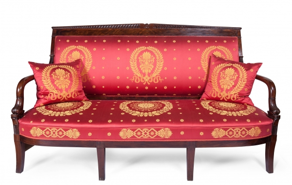 """Finely carved mahogany sofa """"aux dauphins"""""""