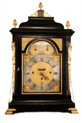BR05 Large tableclock with music automaton playing 4 melodies with 18 hamers on 10 bells,