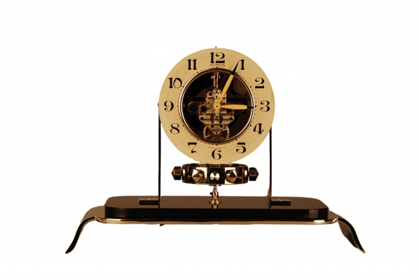 M187 Atmos clock PO1, skeleton dial and glass dome, Reutter nr. 6283, France ca. 1930.