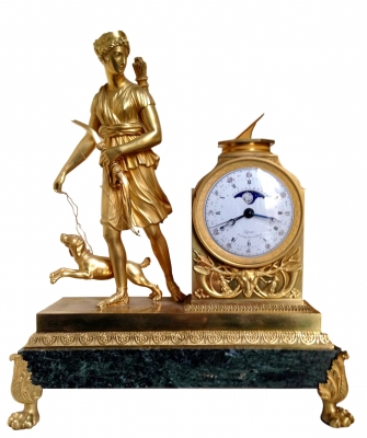 M224 Important French Diana mantle Clock LePaute