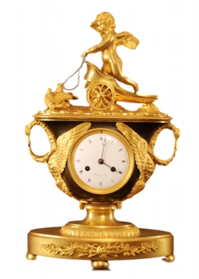 M23 French mantle clock of eight days duration