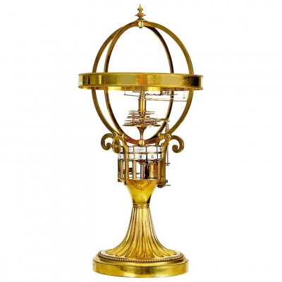 A very nice French astronomical guild table clock with digital time indication