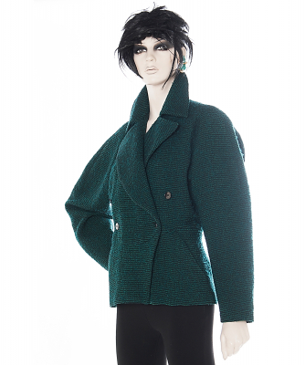 Alaïa Green Wool Fitted Jacket - Azzedine Alaïa