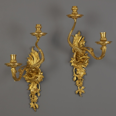 Pair of French Louis XIV Wall Sconces