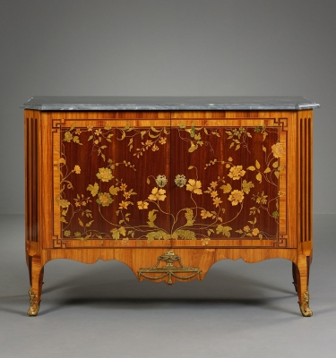 A Dutch Transition Commode with Marquetry