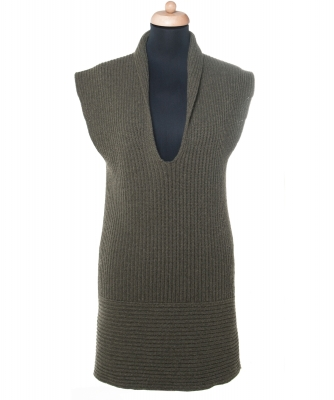 Chanel Green Cashmere Sweater Dress 08C - Chanel