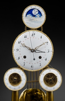 An important and fine multi-dial skeleton clock by Hubert Sarton à Liège, circa 1810.