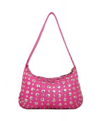 Marni Pink Studded Hobo Bag - Marni