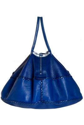 Bottega Veneta Cobalt Leather Shoulder Bag - Bottega Veneta