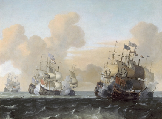 Battle at Sea between Hollanders and Pirates