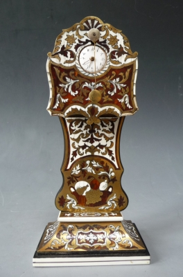 Austrian Zappler, Tiny Ticker, one day, tortoiseshell veneer, Vienna circa 1850.