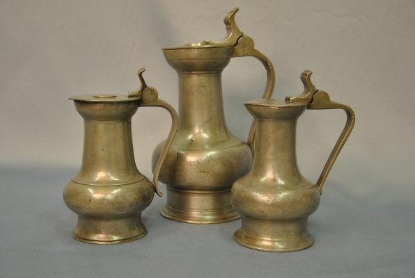 Three german pewter so called