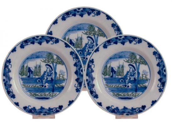 Polychrome Delft Dishes