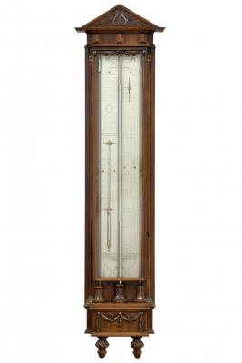 A fine Dutch Louis XVI mahogany barometer by P. Wast, circa 1810