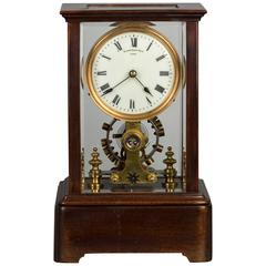 A battery powered mantel clock circa 1908 by Eureka Clock Co Ltd.