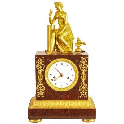 A French 'Empire' ormolu mantel clock, circa 1810