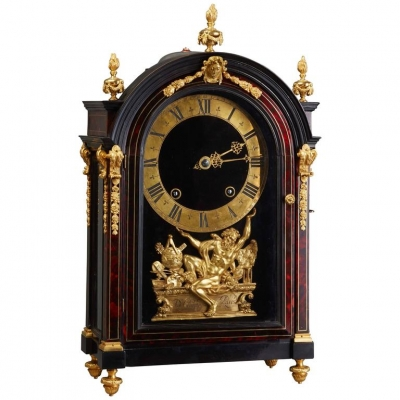 A magnificent French late 17th century Louis XIV 'Religieuse Clock' by D. Champion of Paris, circa 1690