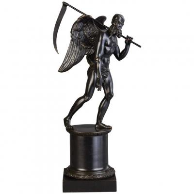 A bronze statue of KRONOS (Cronus), circa 1820