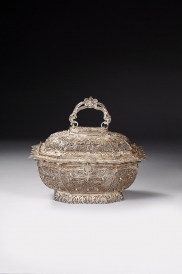 A Chinese filigree export silver box, Qing dynasty works of Art