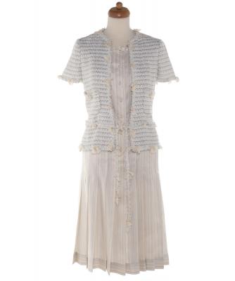Chanel Silk Tweed Jacket Style Dress 05C - Chanel