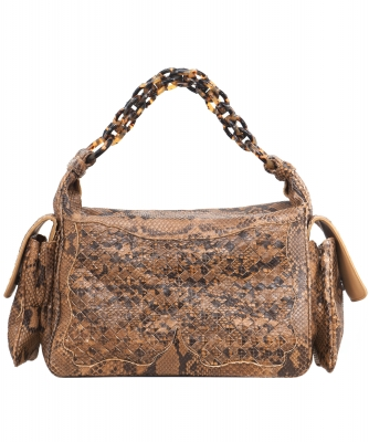 Bottega Veneta Python Cocker Hobo Bag - Limited Edition