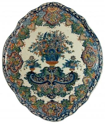 Polychrome Delft Plaque