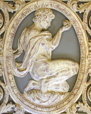 Ornamental fanlight from a Dutch canal house: Judgment of Paris