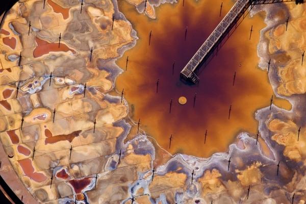 Inside of Tank at Syncrude oil sands upgrader - J Henry Fair