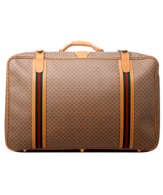 Gucci Web GG Monogram Canvas Suitcase - Gucci