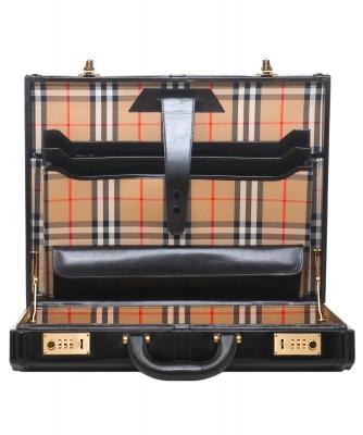 Burberry Black Leather Briefcase/Attache - Burberry