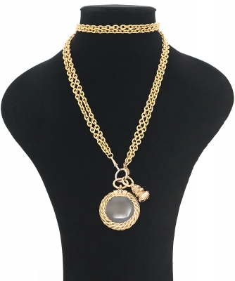 Chanel Magnifying Glass Loupe Pendant Necklace