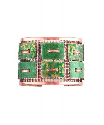 Matisse Renoir Copper Enamel Cuff Bracelet