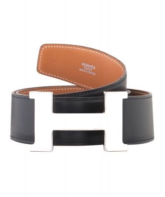 Hermès 42mm Zwarte Leren 'Constance' Riem - Hermès