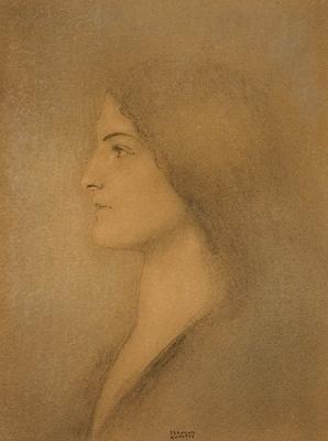 Tête de Femme - Fernand Khnopff