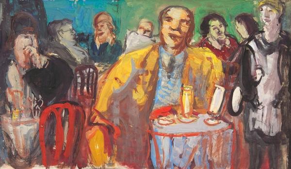 Café interior - Herbert Fiedler