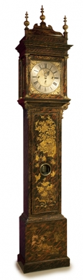 A fine English faux tortoiseshell lacquered longcase clock - William Harris London
