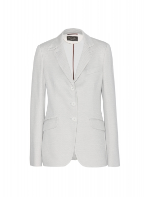 Loro Piana Striped Jersey Blazer