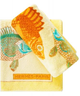 Hermès A Pair Fish Beach Towels 90x150