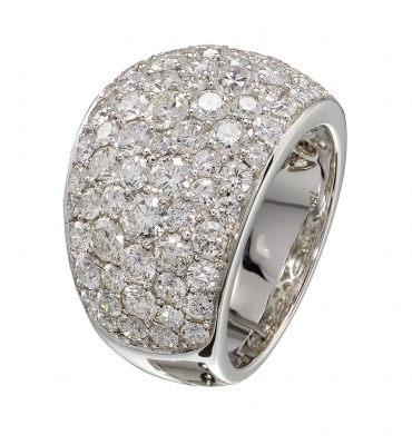 Artur Scholl 18 Carat White Gold Diamond Ring