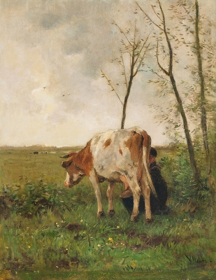 Milking time - Anton Mauve