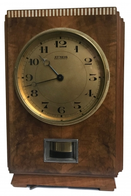 M238 Wooden Atmos clock, walnut veneers, J.L. Reutter, model LG I, No 602