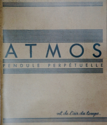 Reprint Reutter Atmos clock brochure with additions