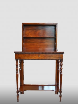 mahogany dumb waiter.