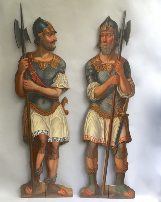 Two dummy boards of Soldiers or Guards