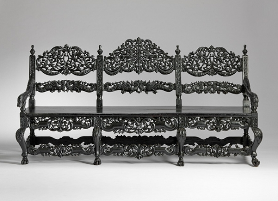 Dutch-Indian colonial bench