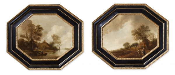 Pair of Dutch landscapes - Pieter Jansz van Asch