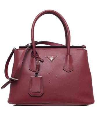 Prada Red Saffiano Cuir Twin Bag - Prada