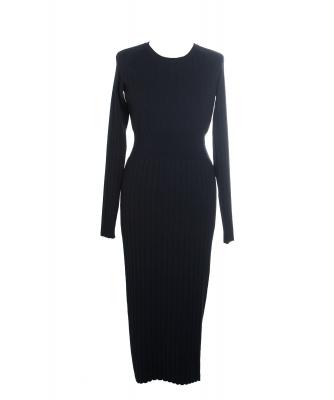 Chanel Black Wool Knit Sweater Dress