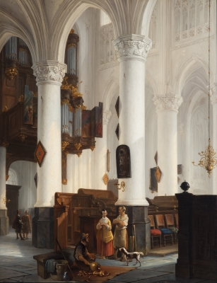 Church interior of the Grote Kerk in Breda